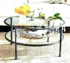 small round coffee table glass top