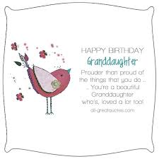 Happy Birthday Granddaughter Poems Verses Wishes