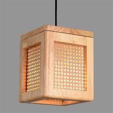 wooden pendant light e27 bulb holder