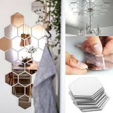 hexagon mirror mirror stickers