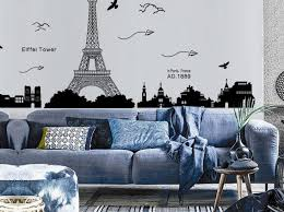 Eiffel Tower Removable Wall Decal Stickers Gold Personalized Design Peel Stick Large Etsy Amazon Arch Vamosrayos