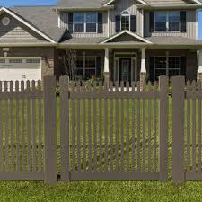 Veranda 4 Ft W X 4 Ft H Cedar Grove Natural Cedar Vinyl Picket Fence Gate 8898340ghd The Home Depot
