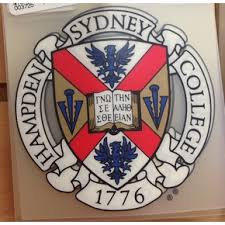 Hampden Sydney College Shield Inside Car Decal 3x4 Only 3 99 Car Decals Accessories