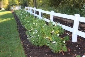 White Rail Fence Up The Lane Daisylanegarden
