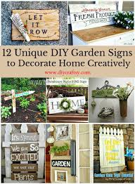 12 unique diy garden signs to decorate