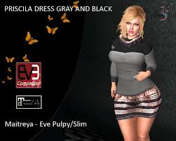 Second Life Marketplace - [WOMEN'S] Priscilla GRAY/BLACK Jacket and Pencil  Skirt
