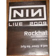 affichette concert by nine inch nails
