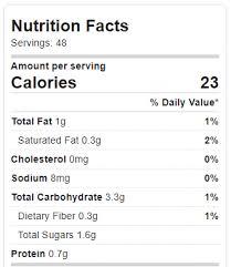 nutrition facts cookie dough dip