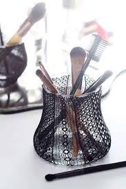 recycled diy makeup brush holder