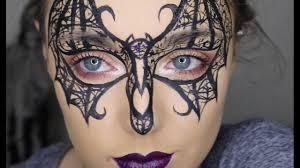 lace bat mask make up tutorial 31 days