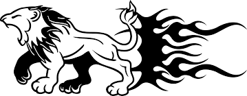 Terrible Lion Catching You Car Sticker Tenstickers