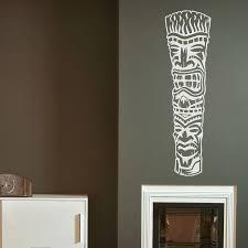 Removable Tiki Wall Decal Tiki Totem Wall Art Wallums