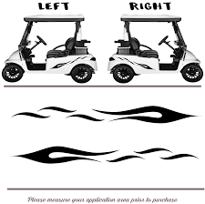 Golf Cart Vinyl Graphic Decals F035 Set Of 2 Shop Vinyl Design