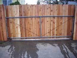 Sliding Dog Ear Gate Driveway Gate Diy Wood Gates Driveway Driveway Gate