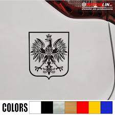 Poland White Eagle Polish Coat Of Arms Of Poland Orzel Bialy Polski Car Decal Sticker Color Name Size 10cm High You Choose Size Color Fecsource Com
