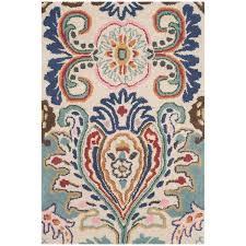 blue area rugs joss main