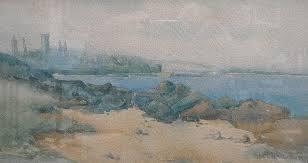 Ada Hill Walker (1879-1955), watercolour, lake