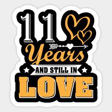 love 11th wedding anniversary shirt