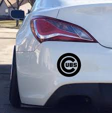 Chicago Cubs Car Decal Etsy