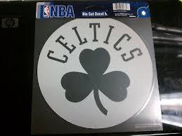Boston Celtics White Window Die Cut Decal Wincraft Sticker 8x8 Nba Sports City Hats