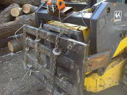 skid steer tire chains in forestry and