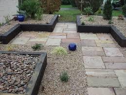gravel paving garden patio designs