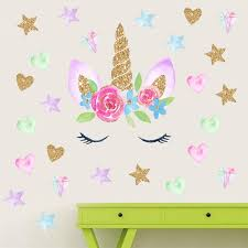 2020 New 28 28cm Unicorn Wall Sticker Children Baby Animal Cartoon Pvc Unicorn Horns Home Decor Wall Stickers Decal Kids Bedroom Decorations From Holidaypartyb2b 2 58 Dhgate Com