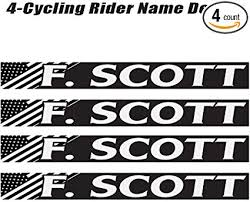 Amazon Com 4 Piece Custom Bicycle Frame Name Black And White Usa Decal Sticker Set Bike Name Decal Set Sports Outdoors