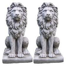 life size stone marble lion statue