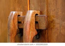 Similar Images Stock Photos Vectors Of Traditional Thai Style Closeup Of A Wooden Door Latch Exterior Wood Door Lock Security Wooden Front Door Latch And Handles Outdoor Wood Fence Gate Lock