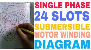single phase submersible motor winding