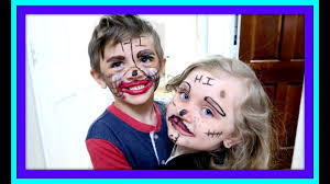 crazy funny faces kids doing makeup