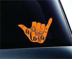 Buy Shaka Aloha Hand Hawaii Symbol Decal Funny Car Truck Sticker Window White In Cheap Price On Alibaba Com