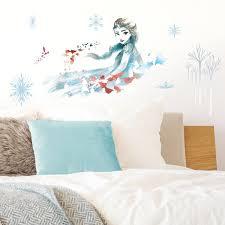 Room Mates Frozen Ii Watercolor Elsa Peel And Stick Giant Wall Decal Reviews Wayfair