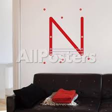 N Letter Wall Decal Wall Decal Allposters Com