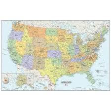 Wall Pops 24 In X 36 In Dry Erase Usa Map Wall Decal Wpe99073 The Home Depot