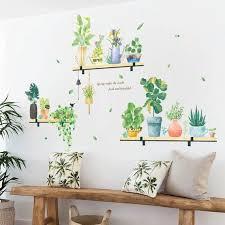 Plant Wall Sticker Wall Decal Homey Wall Decalgreens Decor Etsy