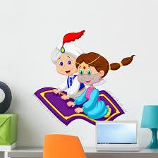 Aladdin Flying Carpet Traveling Wall Decal Wallmonkeys Com