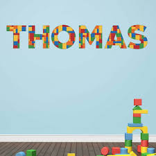 Lego Personalised Name Wall Sticker Decal Kids Mural Vinyl Poster Transfer Ebay Name Wall Stickers Vinyl Poster Murals For Kids