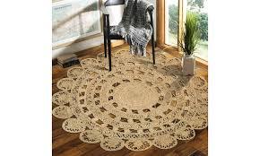 sunshine golden scallop round area rug