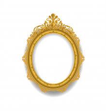 gold vintage frame on white premium
