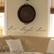 Live Laugh Love Vinyl Wall Quote Family Wall Lettering Decals Stencils