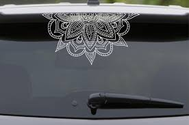 Half Mandala Vinyl Decal For Car Wall Windows Mirrors Laptop Glass Boho Hippie Om Zen Yoga Meditation Spirituality Henna Indian Inpsired Sold By Nikkismandalas On Storenvy