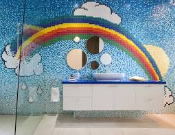 rainbow themed bathroom decor home