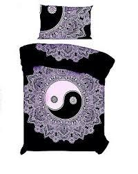 flower yin yang beautiful design cotton