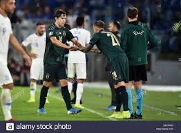 Federico Chiesa of Italy injured leaves the pitch substituted by Federico  Bernardeschi of Italy Roma 12-10-2019 Stadio Olimpico European Qualifiers Q  Stock Photo - Alamy