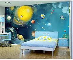 Amazon Com Fifikoj 3d Painting Universe Printing Mural Photo Wallpaper Kids Bedroom Carton Wall Paper Wallpaper Childhood Wallpaper 3d 200x140cm Kitchen Dining