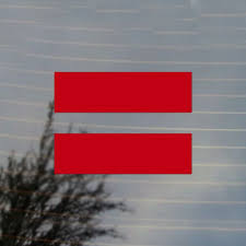 Equality Equal Lgbt Sign Pride Vinyl Decal Sticker Free Us Shipping For Car Laptop Tablets Etc