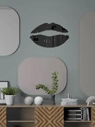 Lip Print Mirror Surface Wall Sticker Shein Usa