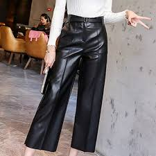 popularity women high waist wide leg